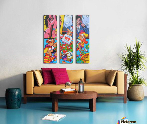 Pegatinas Split Canvas print
