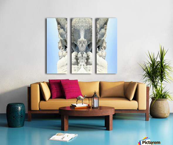 The White Monk  Split Canvas print