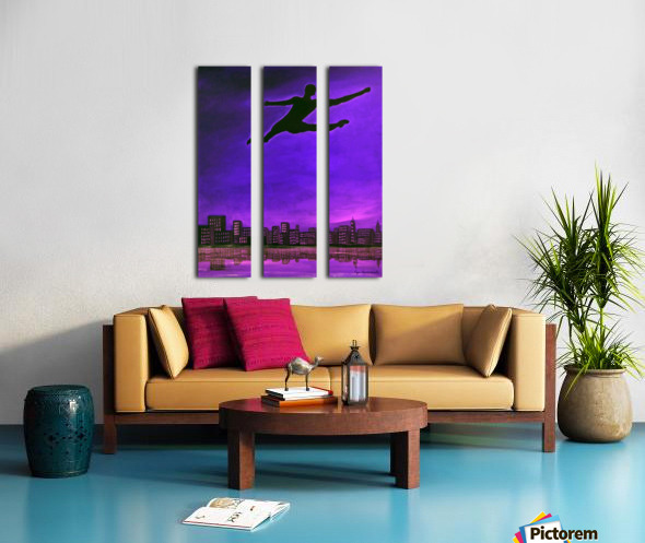 Limitless Power Split Canvas print