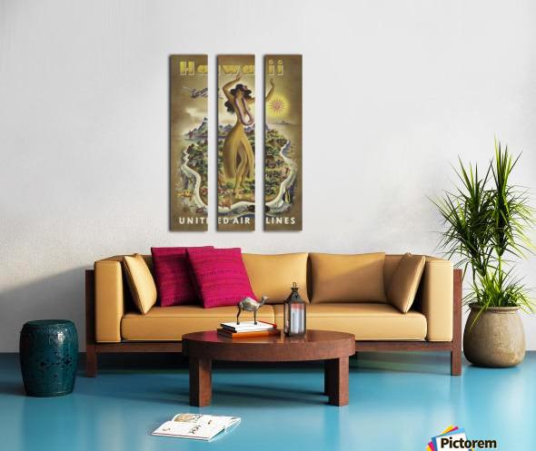 HAWAII TRAVEL POSTER Split Canvas print