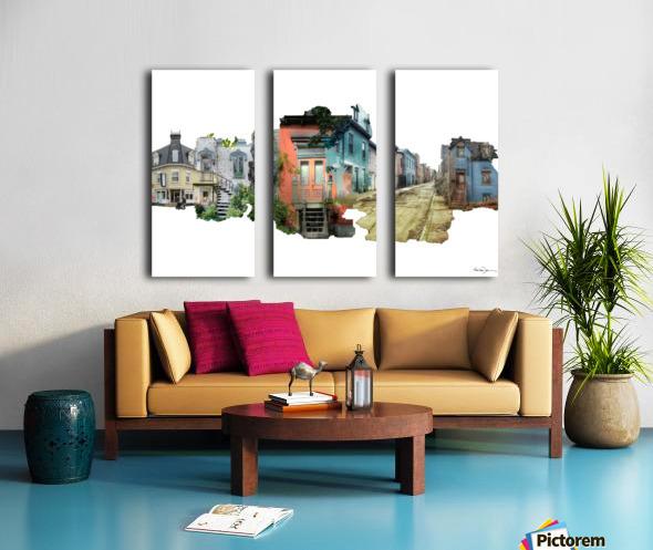 Maisons de Montréal Split Canvas print