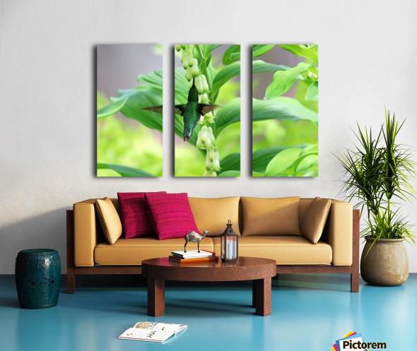 Shades Of Green Split Canvas print