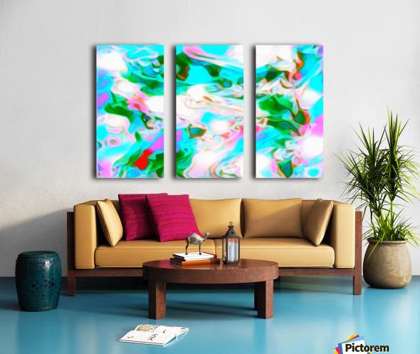 Angelic High - white blue pink green swirls abstract wall art Split Canvas print