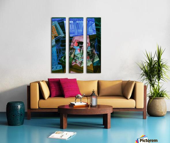 Juan Gris - Still Life before an Open Window Split Canvas print