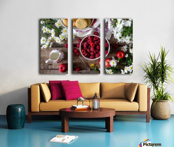 Apples Berries  Split Canvas print