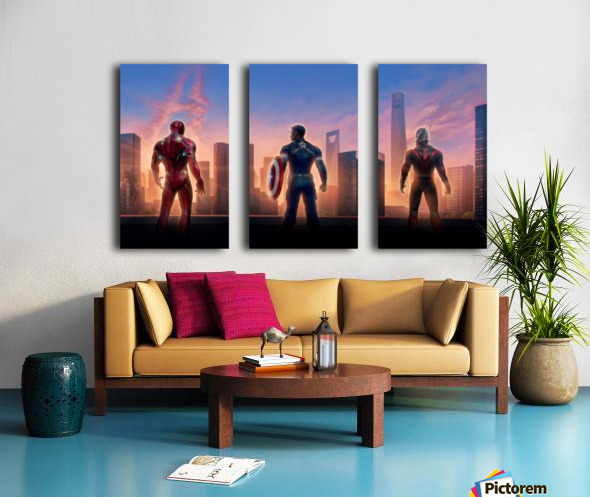 Avengers Split Canvas print
