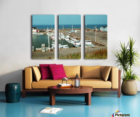 Low Tide - Canadian Harbour Split Canvas print