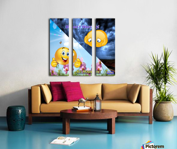 2-Dont Worry Be Happy Split Canvas print