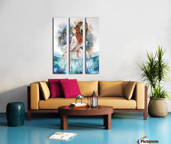Shape of water Split Canvas print