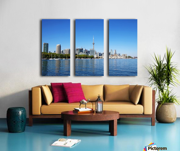 Toronto Harbourfront Split Canvas print
