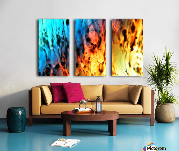 Fire Woman Split Canvas print