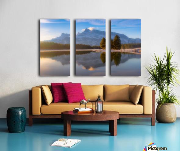 Two jack lake 2018 Split Canvas print