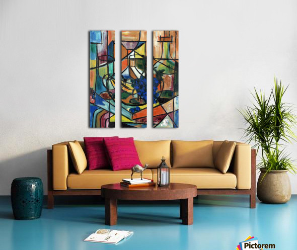 Wine n Dine Split Canvas print