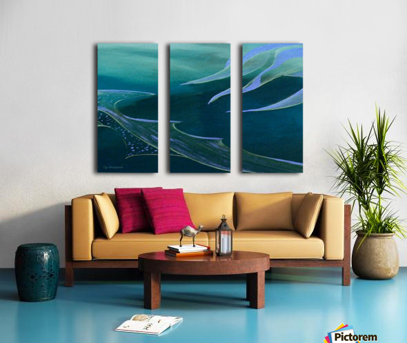Teal Abstraction Split Canvas print