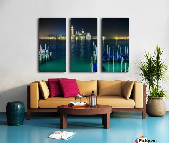 Venice by night Split Canvas print