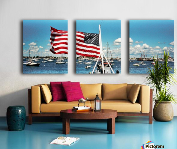 Newport Rhode Island - Harbor View Split Canvas print