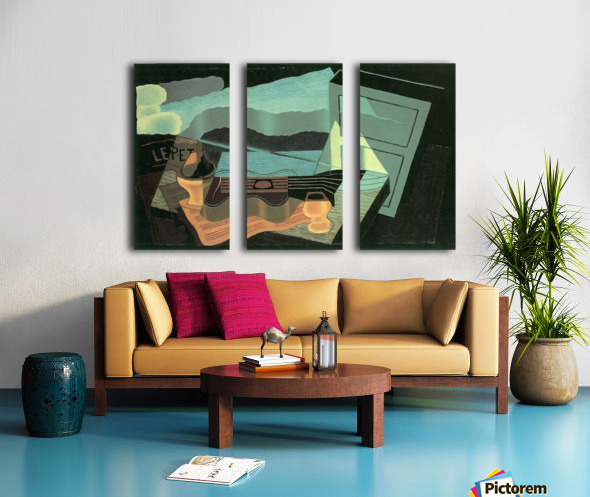 Overlooking the bay by Juan Gris Split Canvas print