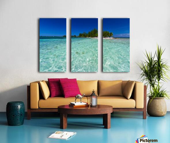 Tropical Cay Split Canvas print