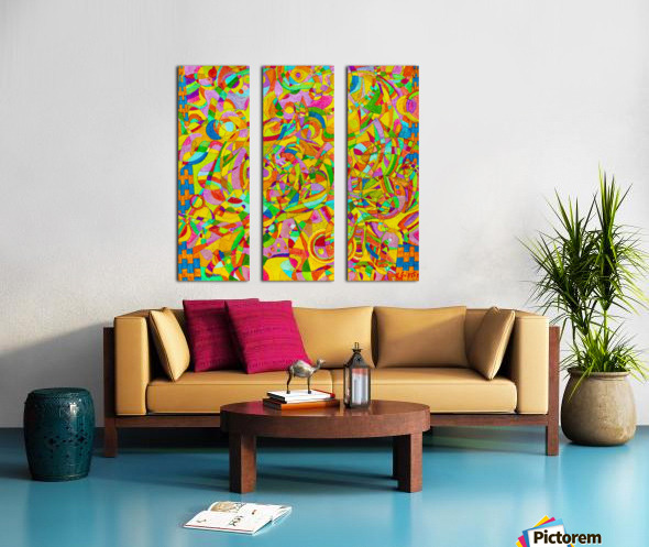 ABSTRACT SHAPES 08 Split Canvas print