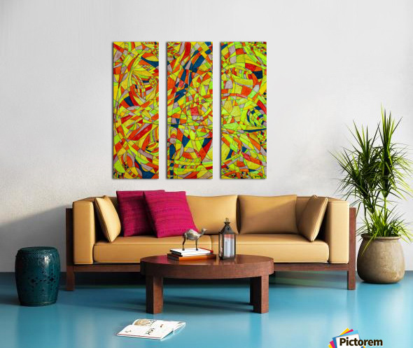 ABSTRACT SHAPES 10 Split Canvas print