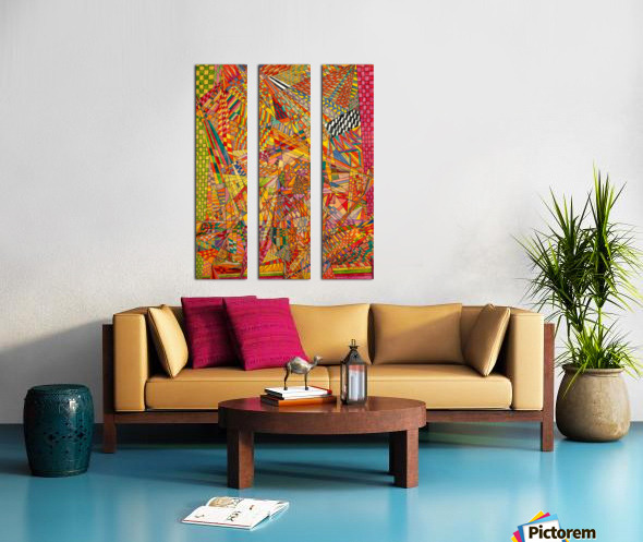 ABSTRACT SHAPES 12 Split Canvas print