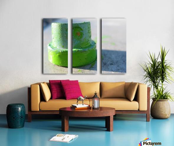 GREEN CAP Split Canvas print