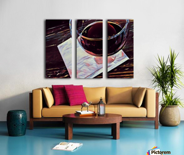 Wine Art Split Canvas print