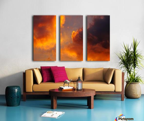 Golden Cloudscape 01 Split Canvas print