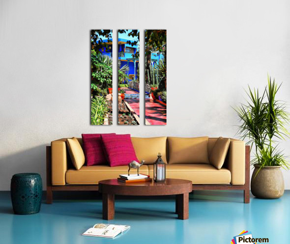 Approach To Cubist Villa Jardin Majorelle Split Canvas print