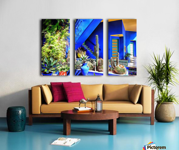 Cubist Villa Jardin Majorelle Marrakech Split Canvas print