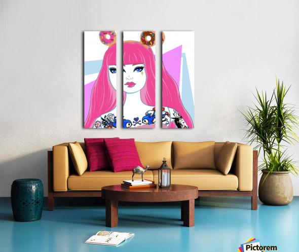 Candy Girl Split Canvas print