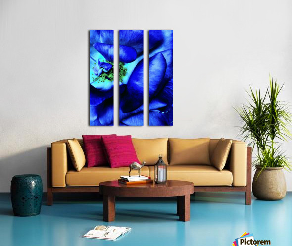 Art of the blue rose 3  Split Canvas print