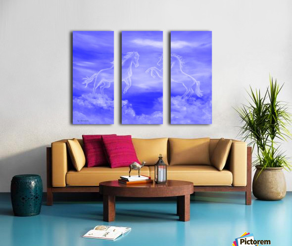 Horse Spirit Clouds Split Canvas print