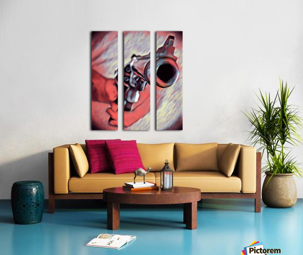 44 mag Art Split Canvas print