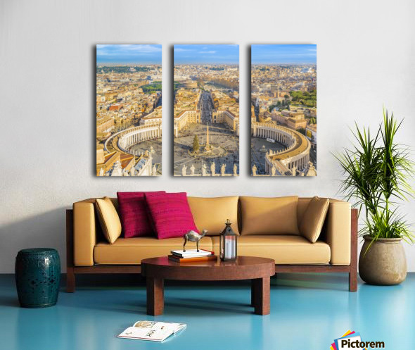 24996996 rome aerial view from saint peter basilica viewpoint Split Canvas print