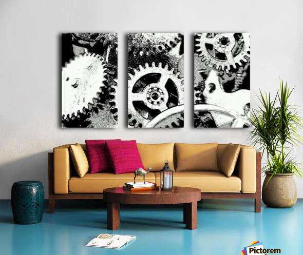 Gear Space Split Canvas print