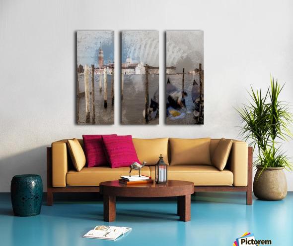 Venise le gondolier Split Canvas print