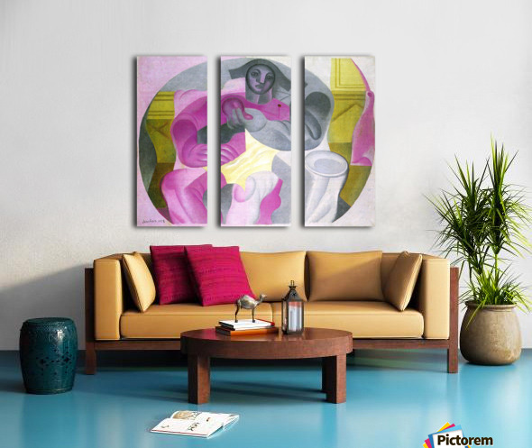 Sitting Harlequan by Juan Gris Split Canvas print