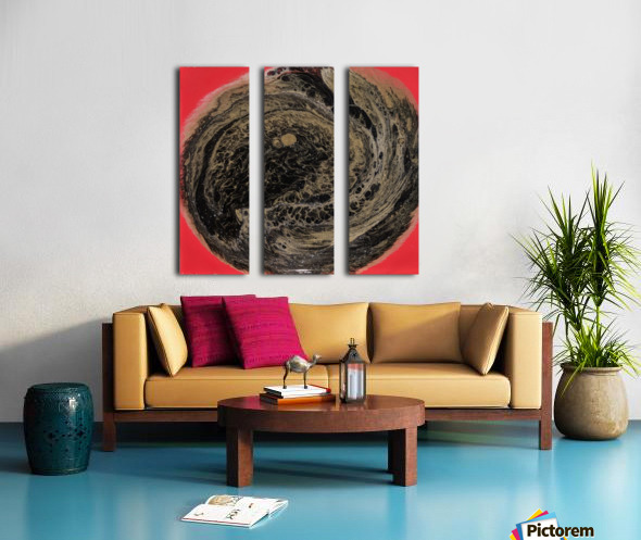 Fire Galaxy Split Canvas print