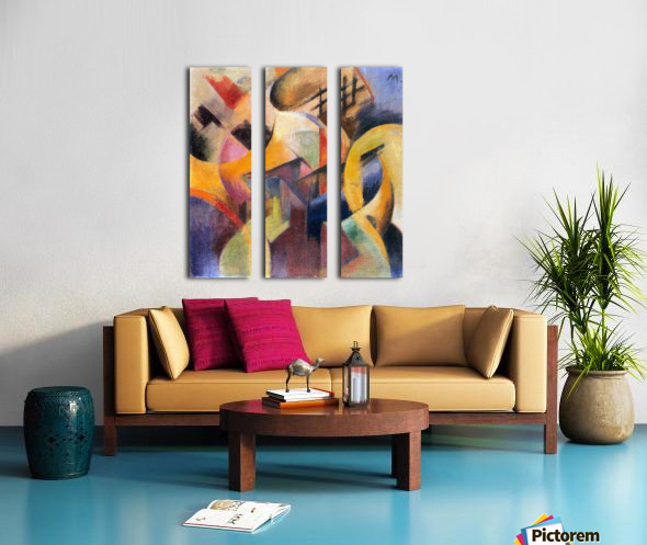 Small composition I by Franz Marc Split Canvas print