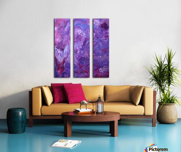 Purple sea of bliss Split Canvas print
