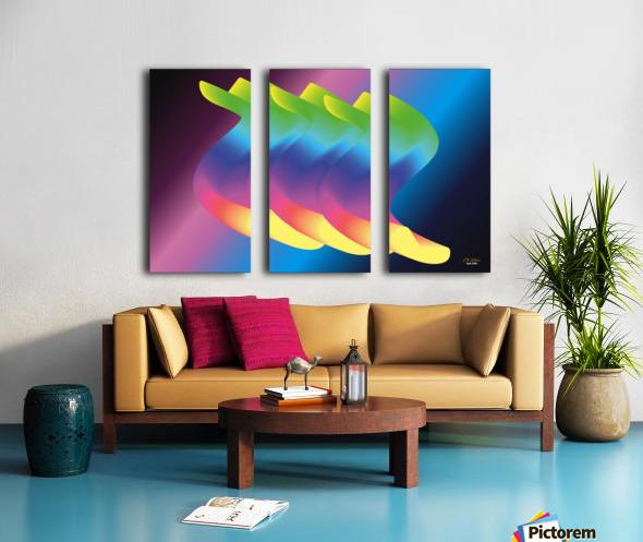 1-Floating Cuddling Threesome Split Canvas print
