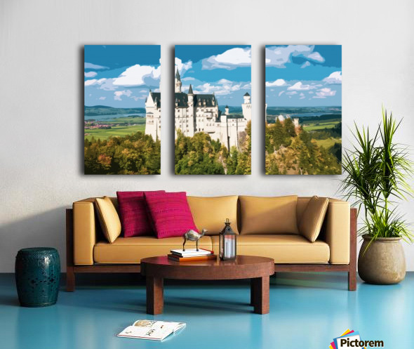 Neuschwanstein Castle poster Split Canvas print