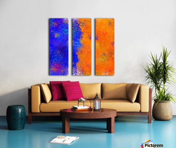 Seisnahorra - orange and blue balanced freedom Split Canvas print
