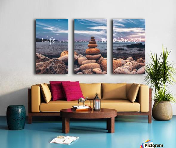 Life is better when its Balanced Split Canvas print