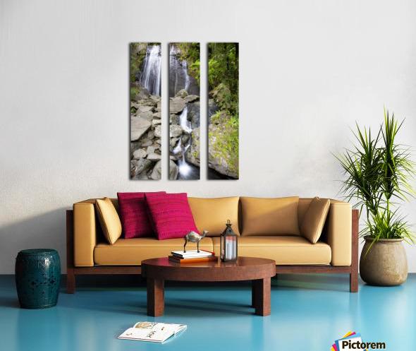 El Junque Waterfall Split Canvas print