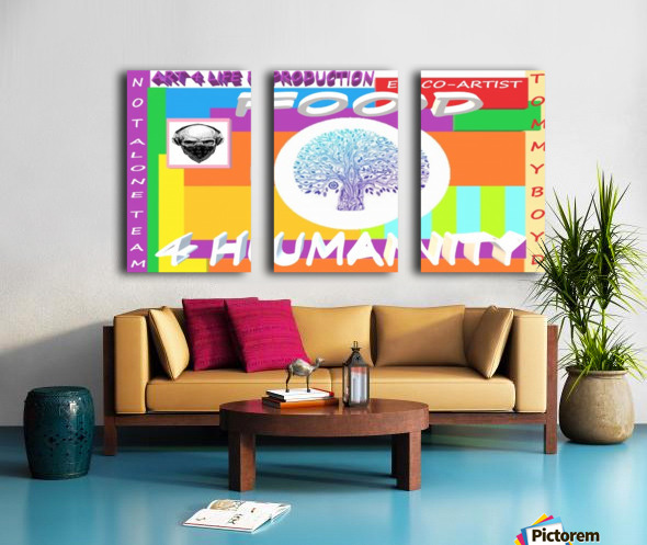FOOD 4 HUMANITY LIFE  ECO ARTIST TOMMY MIGUEL BOYD Split Canvas print