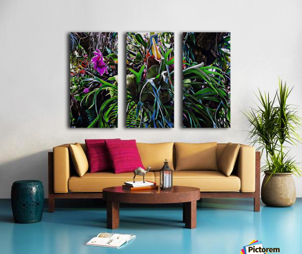 Stag Horn And Orchid Fantasy Garden Split Canvas print