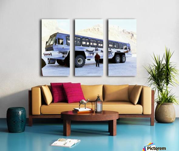 Ice Fields Transportation - Banff Canada Split Canvas print