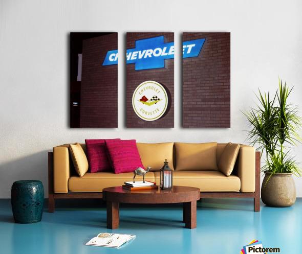 Chevrolet Corvette Bowling Green Kentucky Split Canvas print
